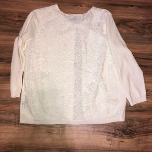 Liz Claiborne sz XLP floral embroidered cardigan